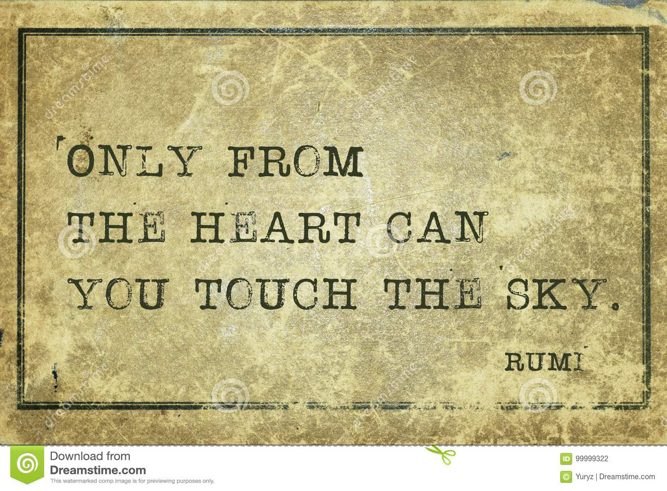 Touch Sky Rumi Stock Illustration Illustration Of Care 99999322