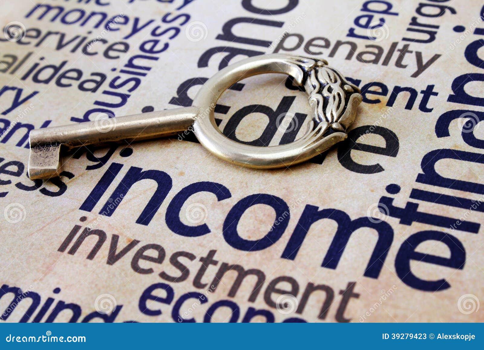 Touche fonctions étendues sur le texte de revenu