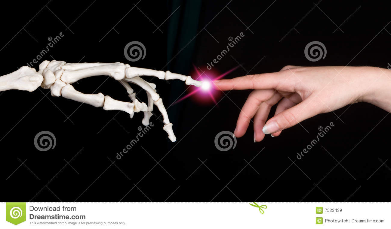 Touching fingers