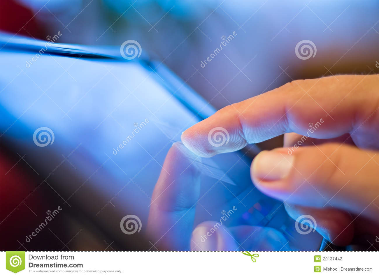 Touching screen on tablet-pc