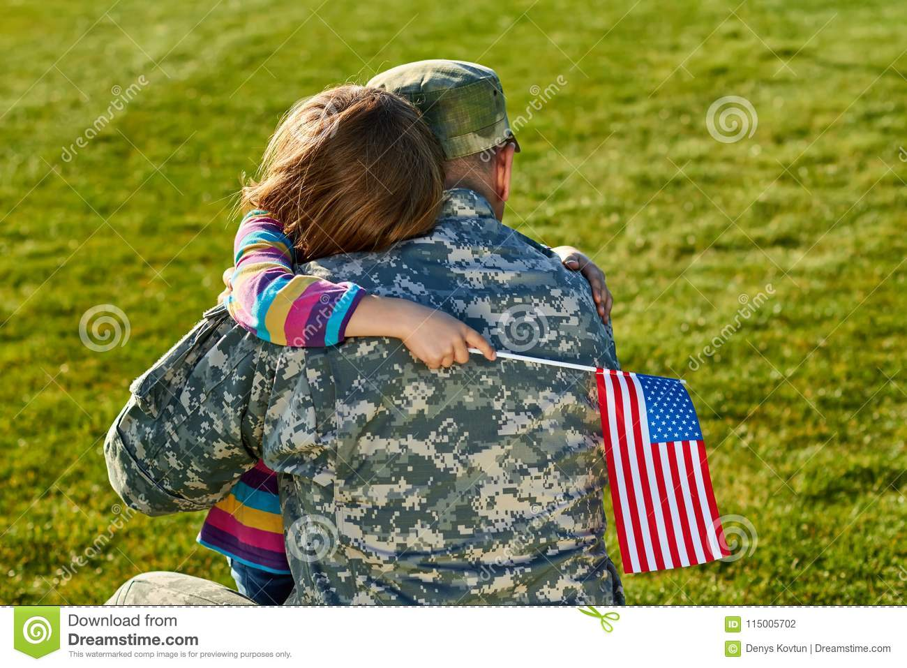 Touching US army soldier reunion with little daughter.