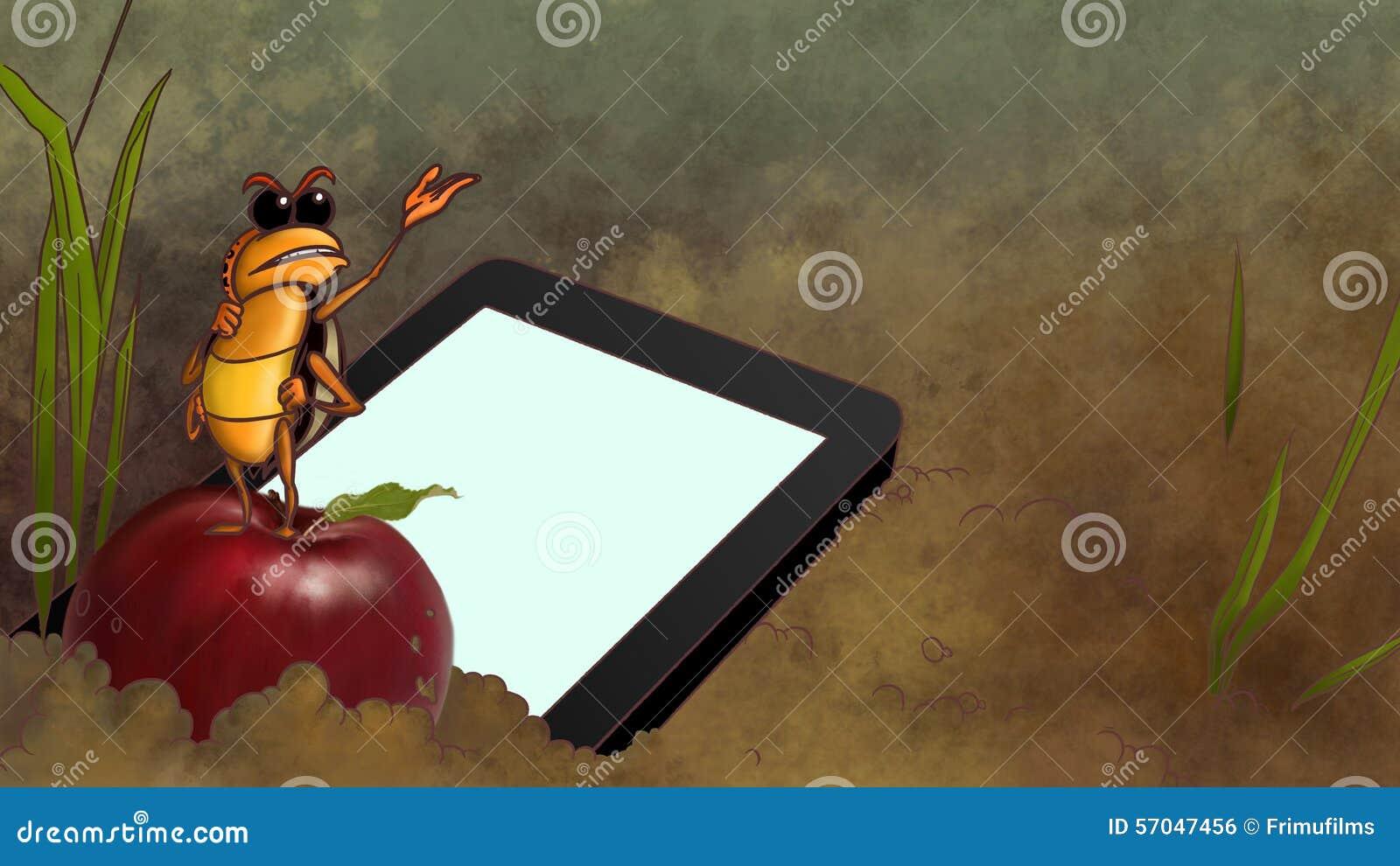 Touchpad opuszczający w brudzie