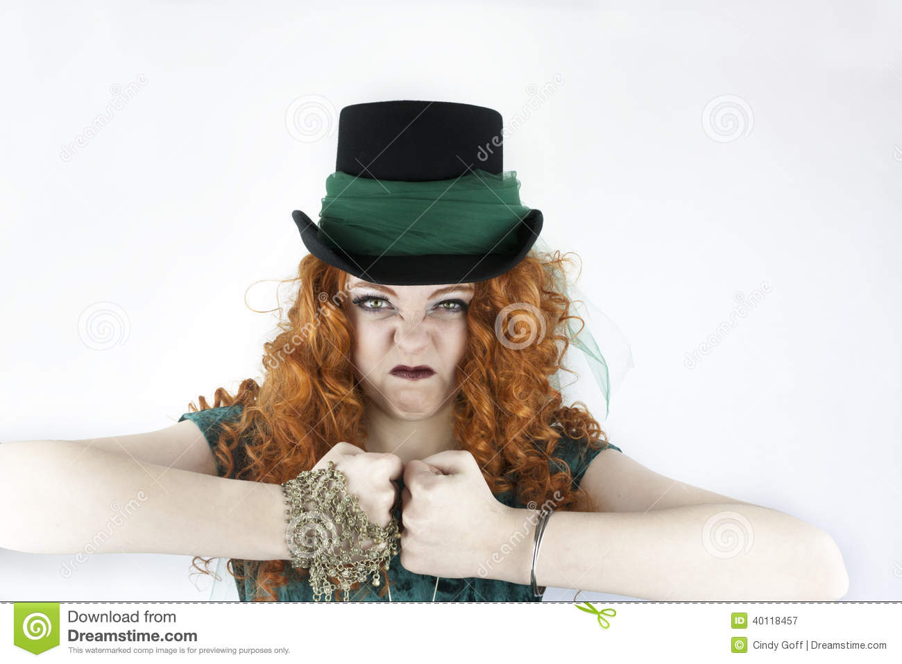 tough girl wearing top hat stock image image of lady 40118457