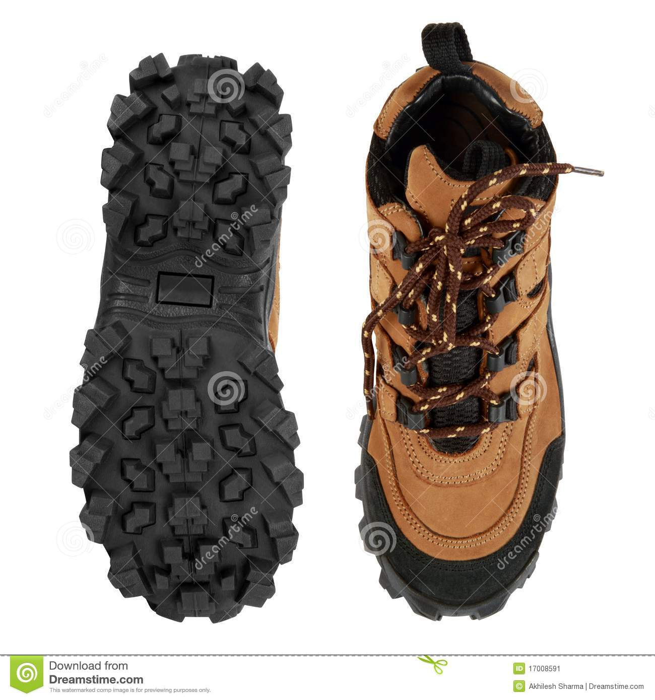 Tough Hiking Shoes And Sole Stock Image Image Of Safety