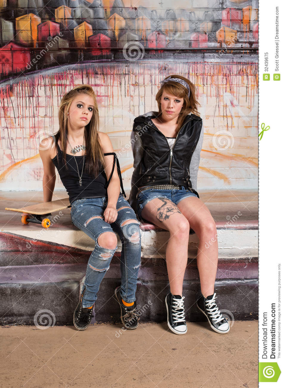Tough Young Skateboarders stock image. Image of girlfriend ... White Gang Members