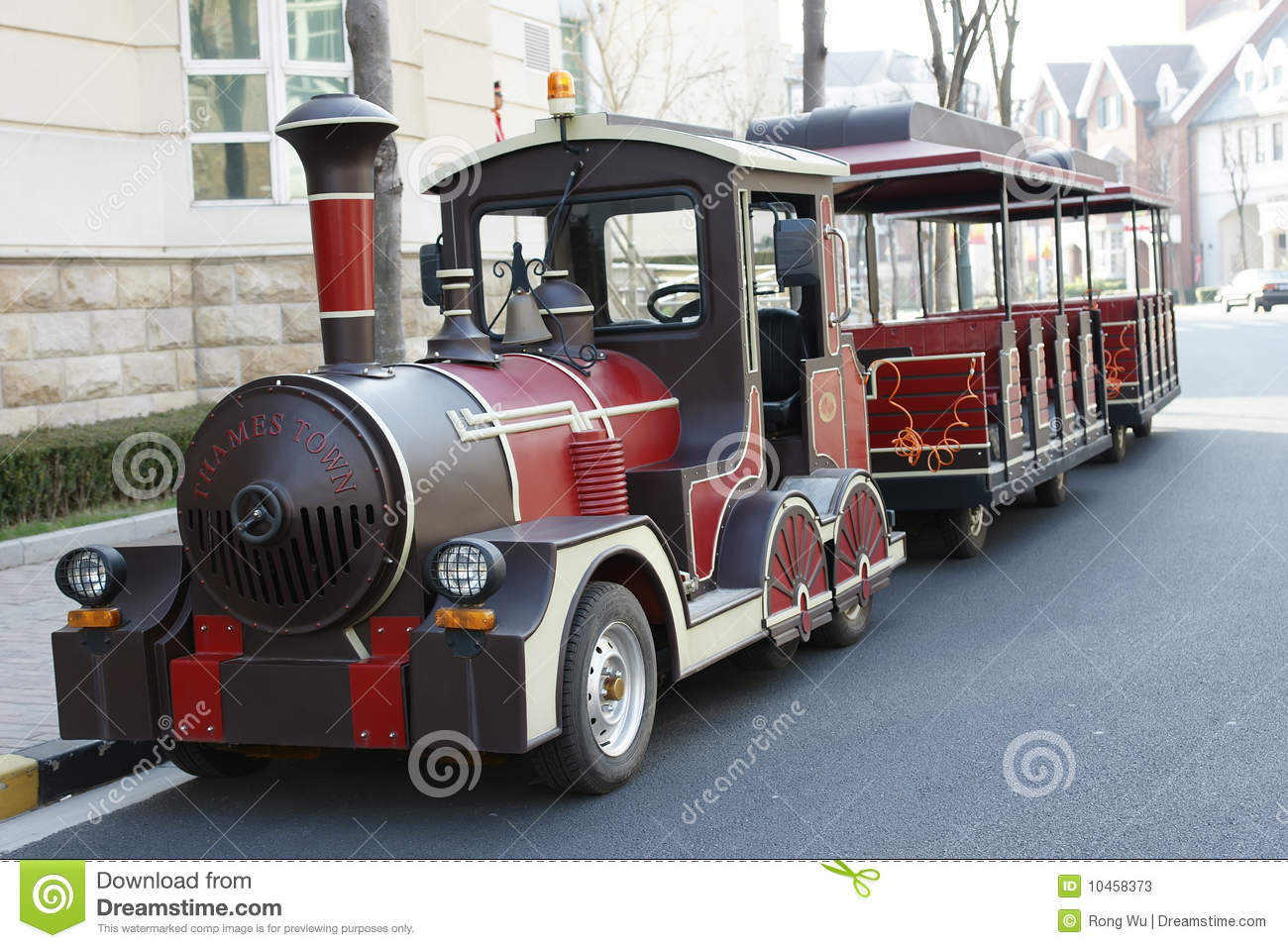 Tour Bus Like A Small Train Stock Image Image Of