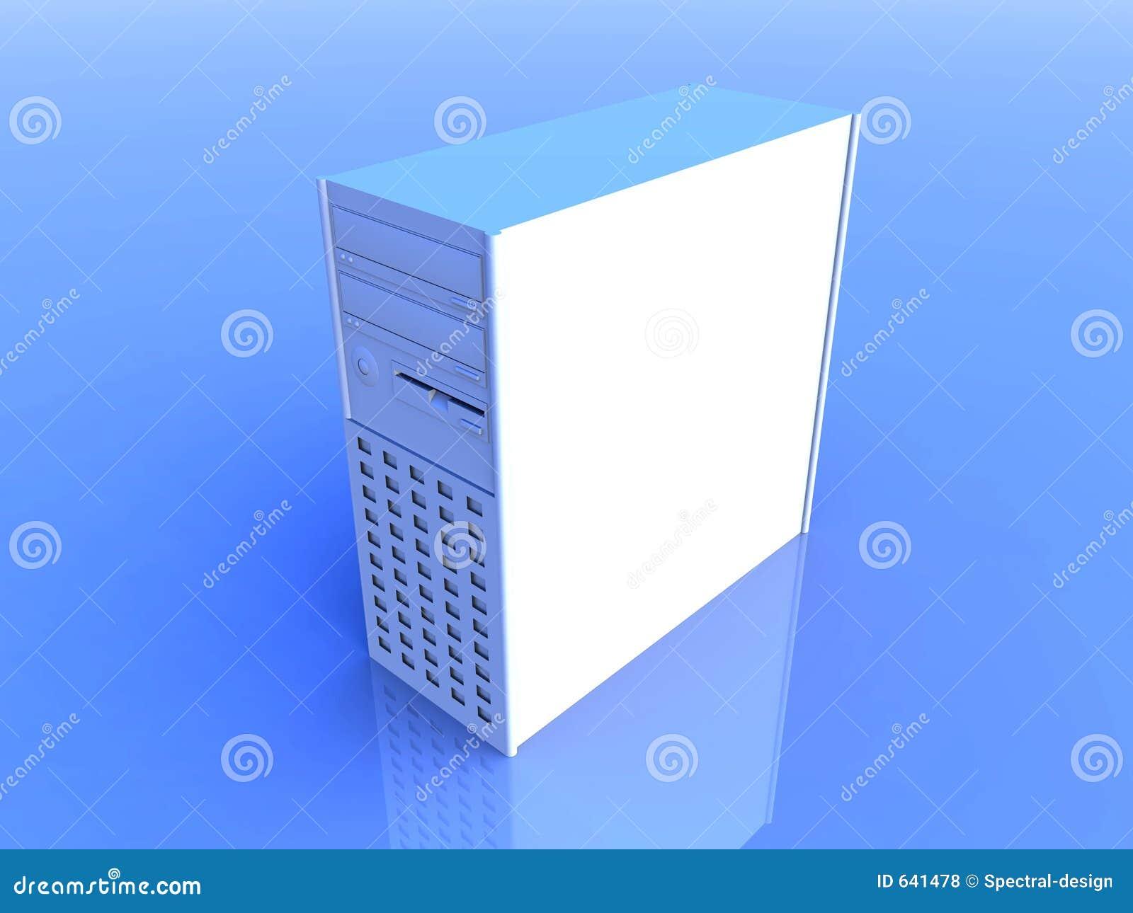 tour d 39 ordinateur bleu illustration stock illustration du dessins 641478. Black Bedroom Furniture Sets. Home Design Ideas