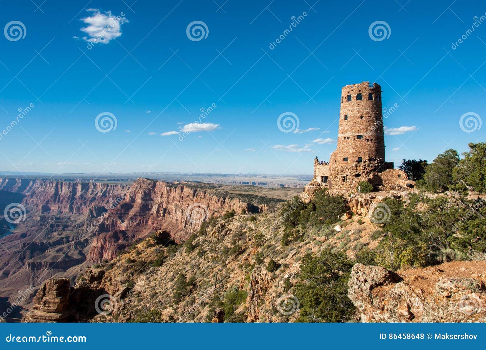 Tour de guet Grand Canyon, Arizona Etats-Unis de vue de désert