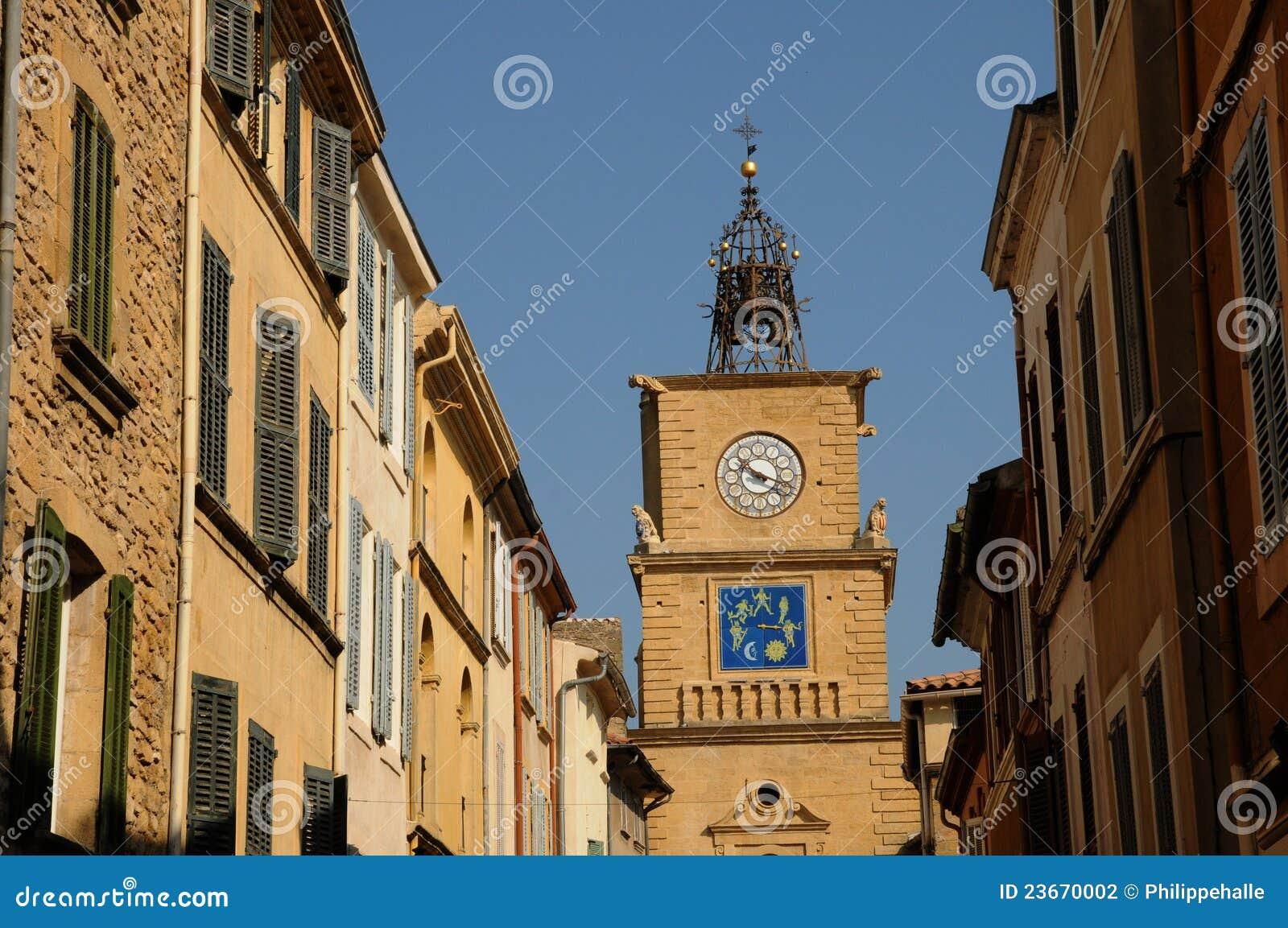 Tour de l horloge in salon de provence stock photography for Porte de l horloge salon de provence