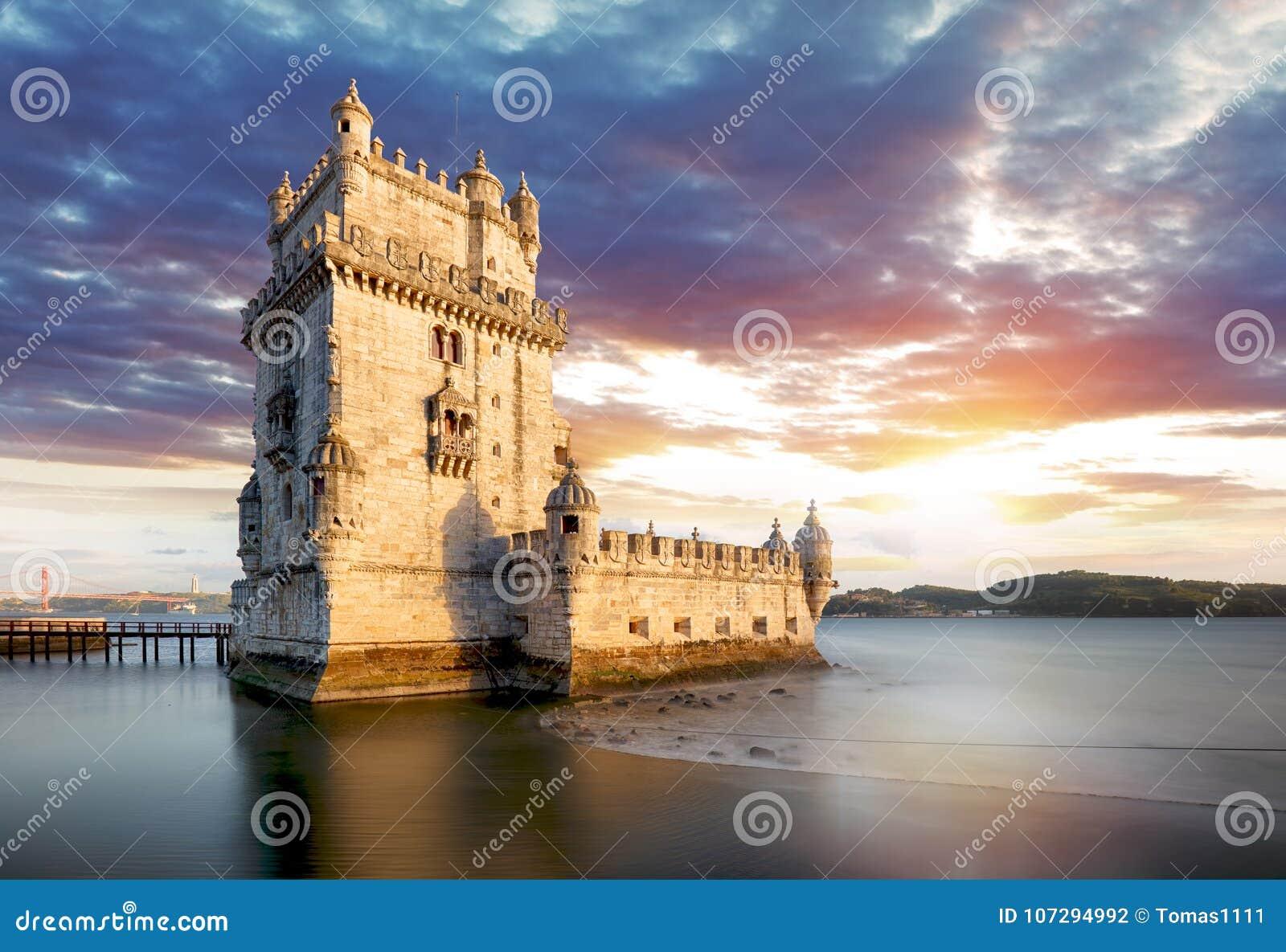 Tour de Lisbonne, Belem au coucher du soleil, Lisbonne - Portugal