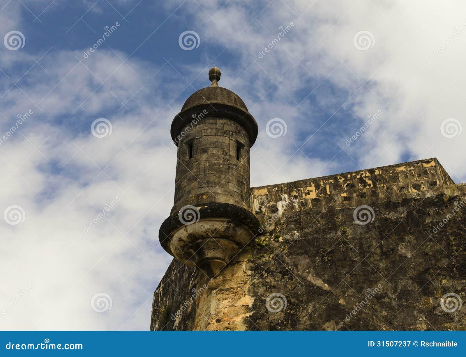 Tour de montre de sentinelle à vieux San Juan