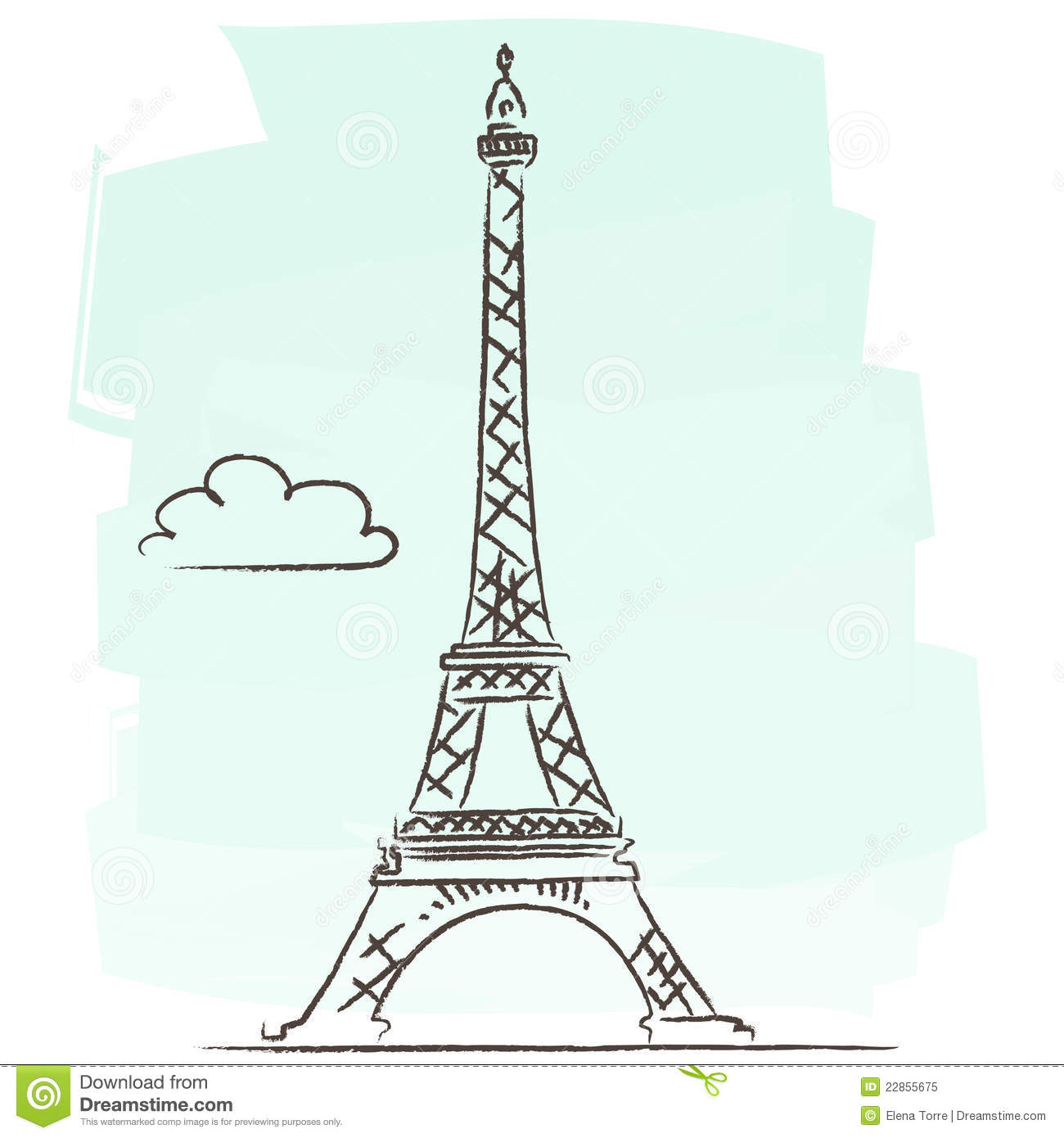 Super Tour Eiffel vector stock vector. Image of architecture - 22855675 JB75