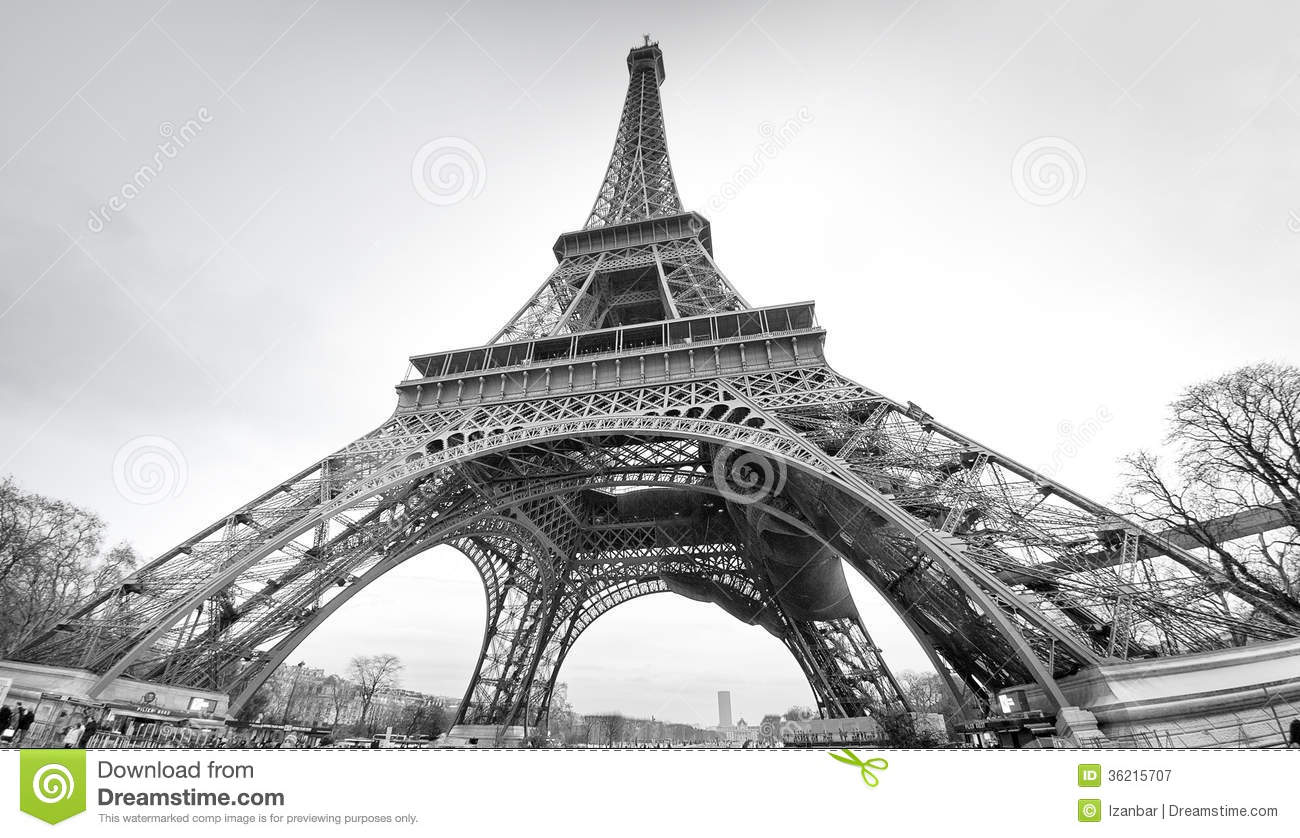tour eiffel in black and white stock image image 36215707. Black Bedroom Furniture Sets. Home Design Ideas