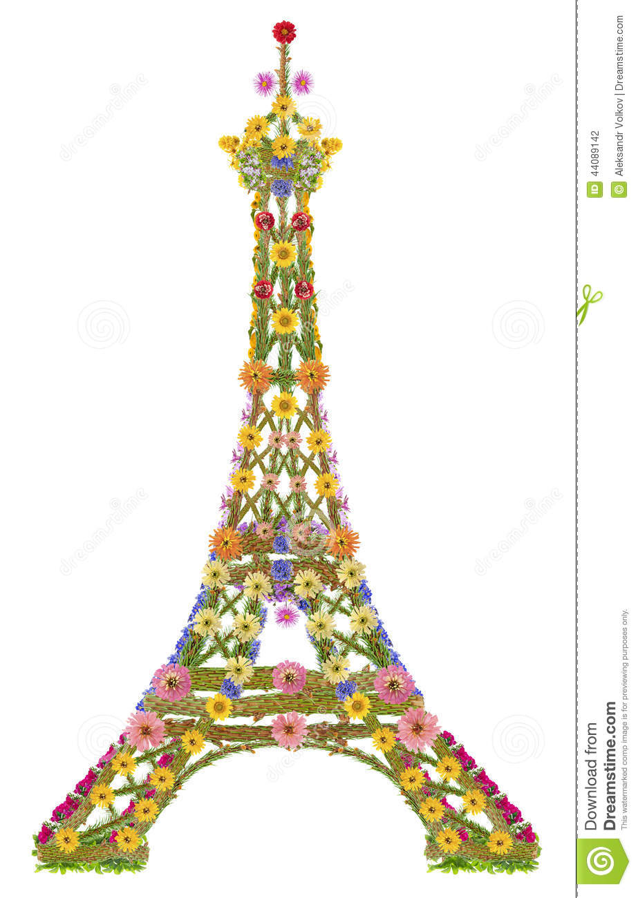 tour eiffel des fleurs photo stock image 44089142. Black Bedroom Furniture Sets. Home Design Ideas