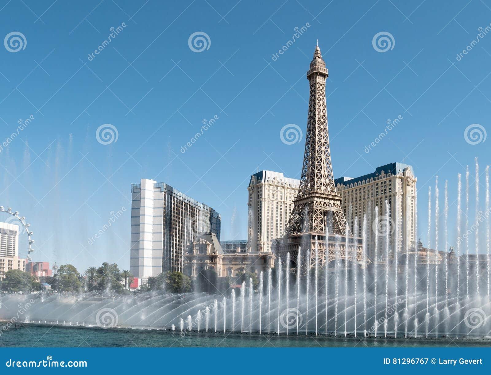 Tour Eiffel, fontaines de Bellagio