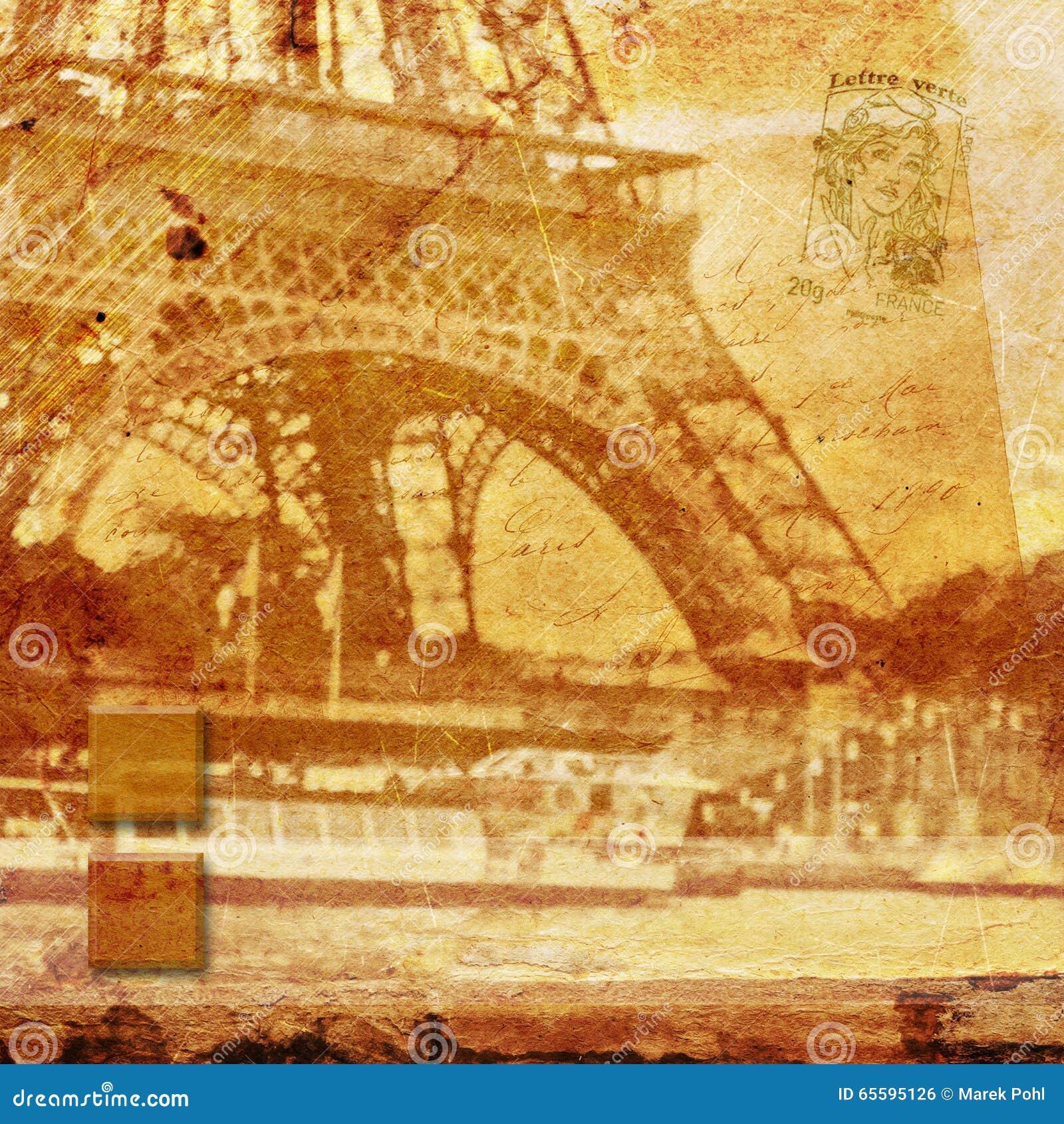 Tour Eiffel Paris, art numérique abstrait