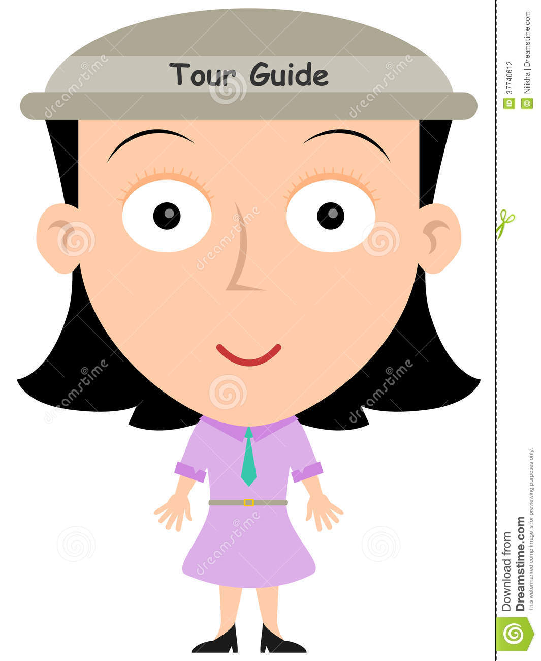 Download Tour Guide Stock Illustration Of Worker