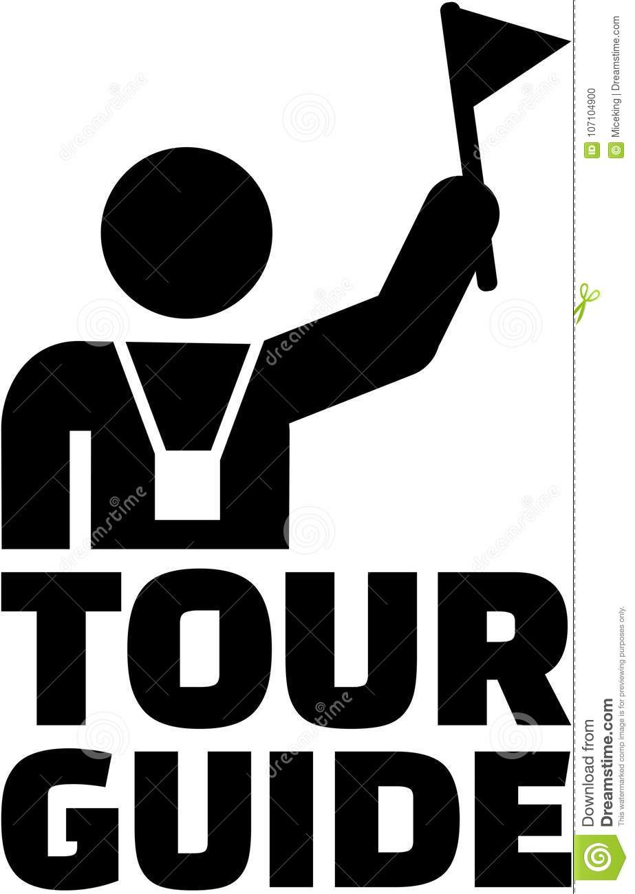 Download Tour Guide Pictogram Stock Vector Illustration Of Trip