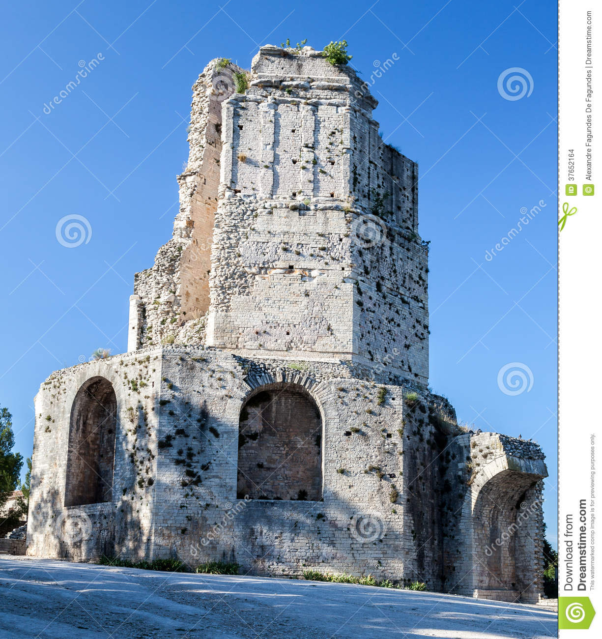 Tour magne tower nimes france stock photo image of france provence 37652164 - Tour magne nimes ...