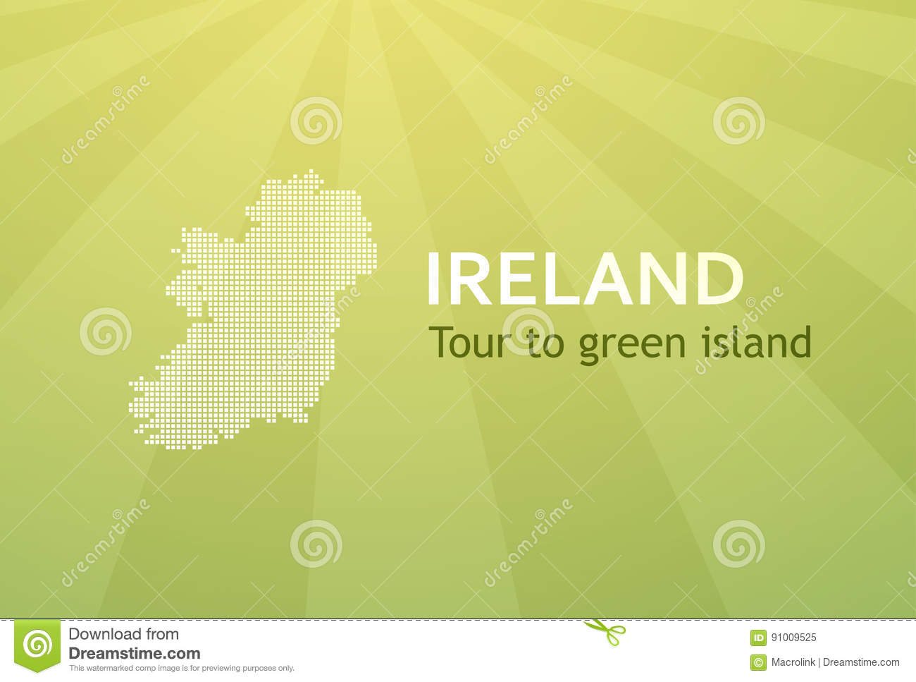 Tour to ireland business card for travel company stock vector tour to ireland business card for travel company royalty free vector reheart Image collections