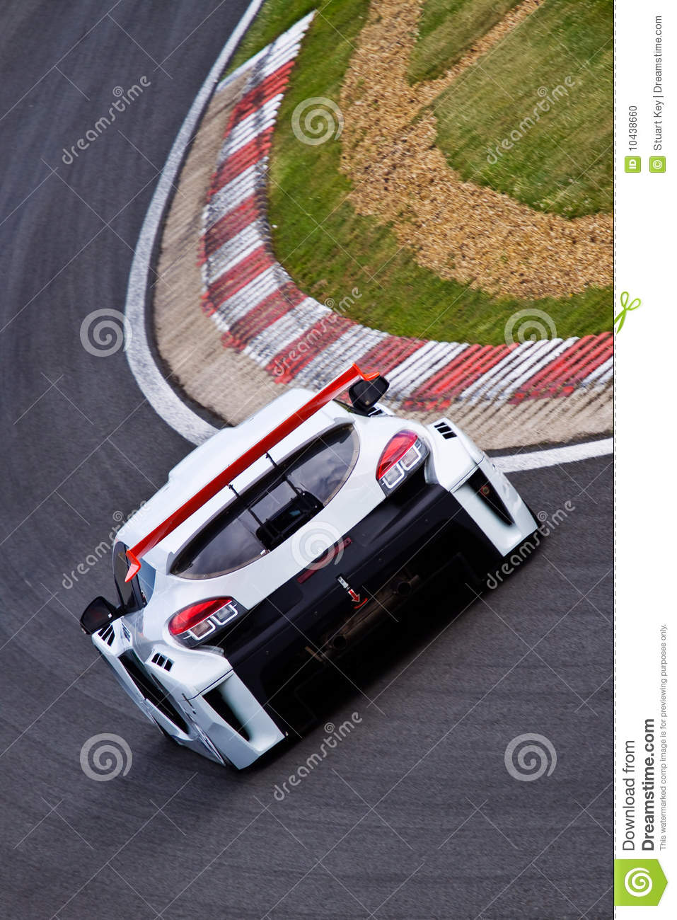 Touring car on track