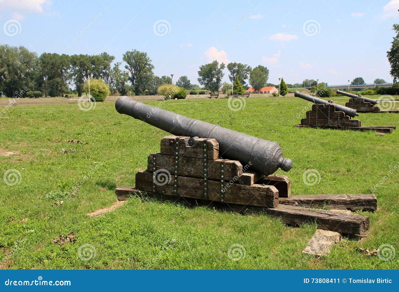 Tourism In Osijek Croatia Ottoman Empire Cannons Editorial Photo