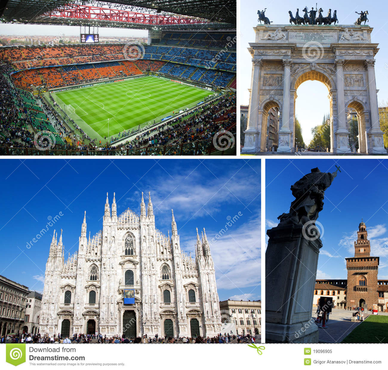 Tourist attractions in milan italy editorial image for Best places in milan