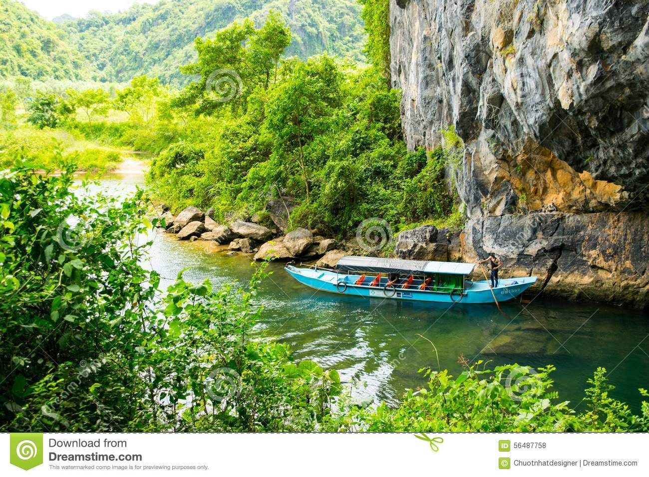 Download Tourist Boats, The Mouth Of Phong Nha Cave With Underground River, Phong Nha-Ke Bang National Park, Vietnam Editorial Stock Photo - Image of vietnam, karst: 56487758