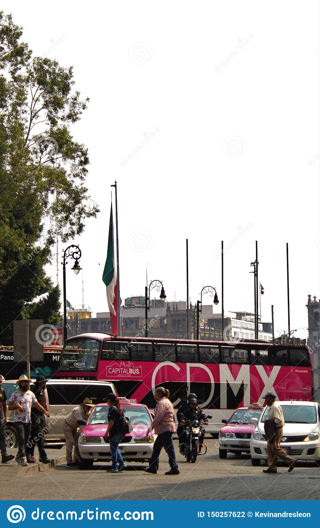 Tourist Bus In Mexico City Editorial Photography. Image Of