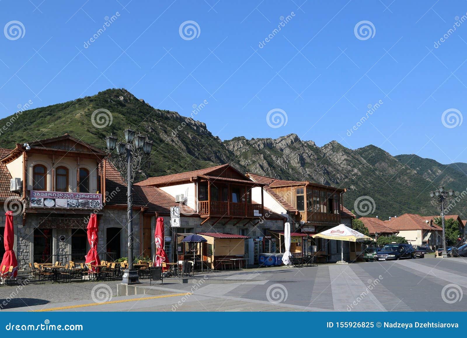 Tourist center of Mtskheta, Georgia