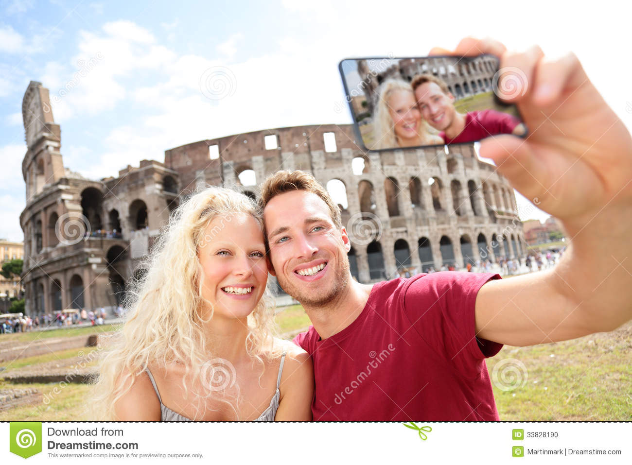 Europe Travel Taking A Selfie Stock Photo - Image of blue ... |Europe Tourist Taking