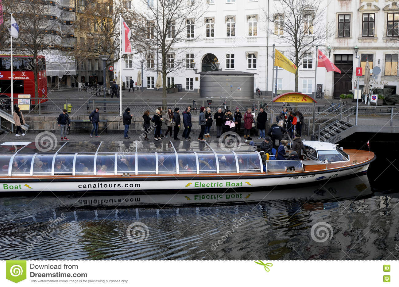Tourist Enjoy Canal Tour In Copenhagen Editorial Image Image Of