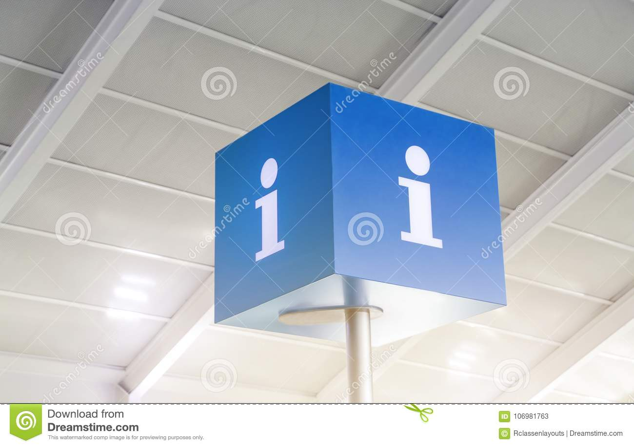 tourist info center signs cube stock image image of direction