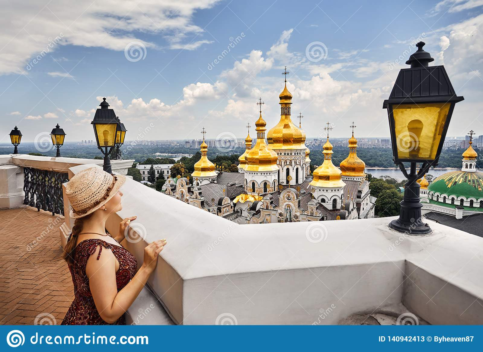 Tourist in Kiew Pechersk Lavra
