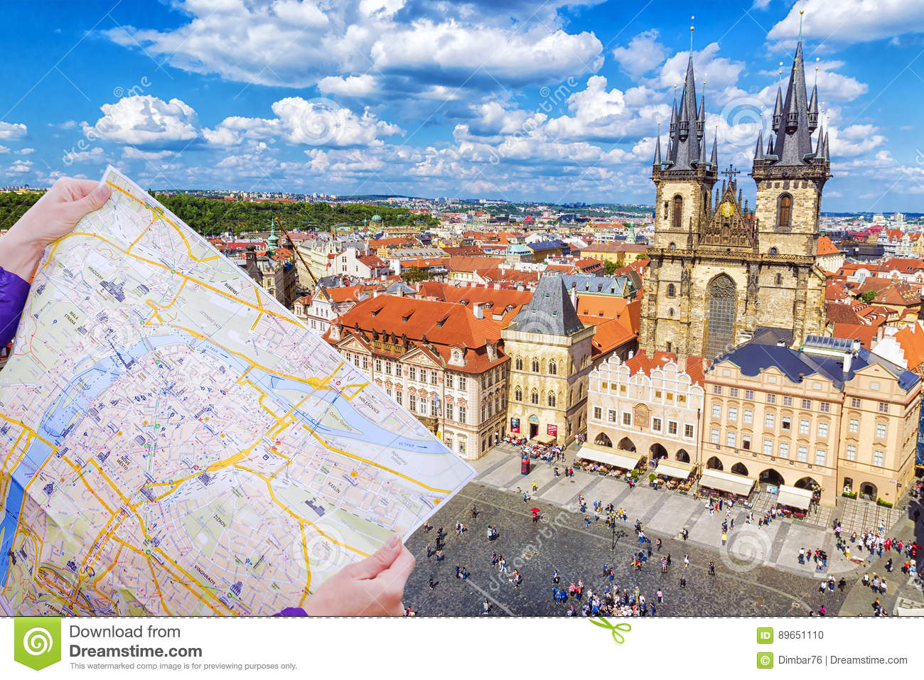 Tourist Map Of Prague Against The Background Of The Old Town ... on old town krakow poland map, old town san diego map, old town dubrovnik croatia map, finland helsinki map tourist,