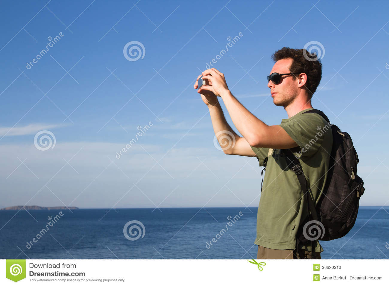 Tourist with mobile