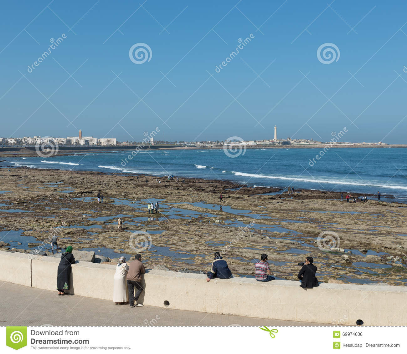 History Timings Attractions Beach: The Tourist Relax At The Beach Of Casablanca Editorial