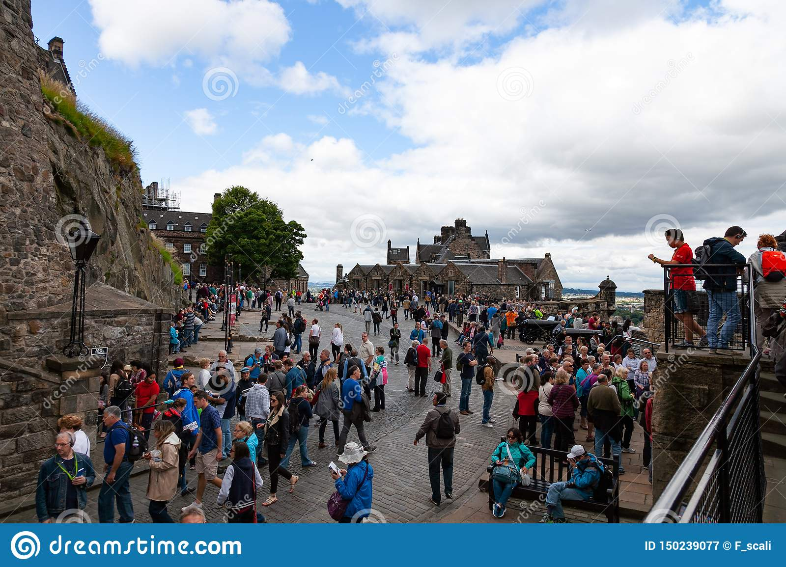Tourists at Stirling Castle