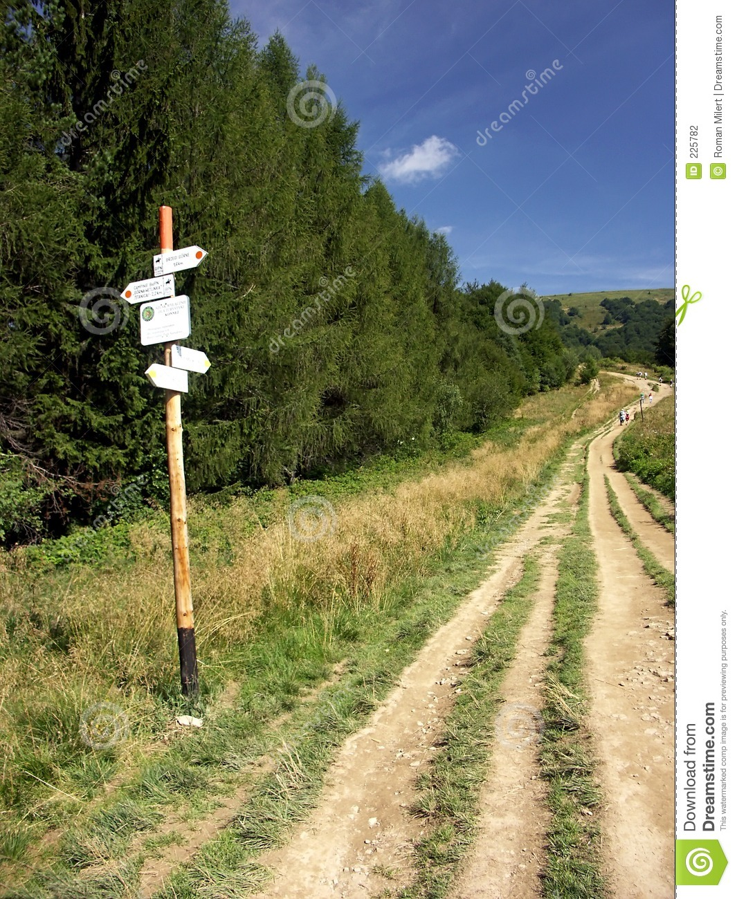 Download On a tourist track stock photo. Image of hike, landscape - 225782