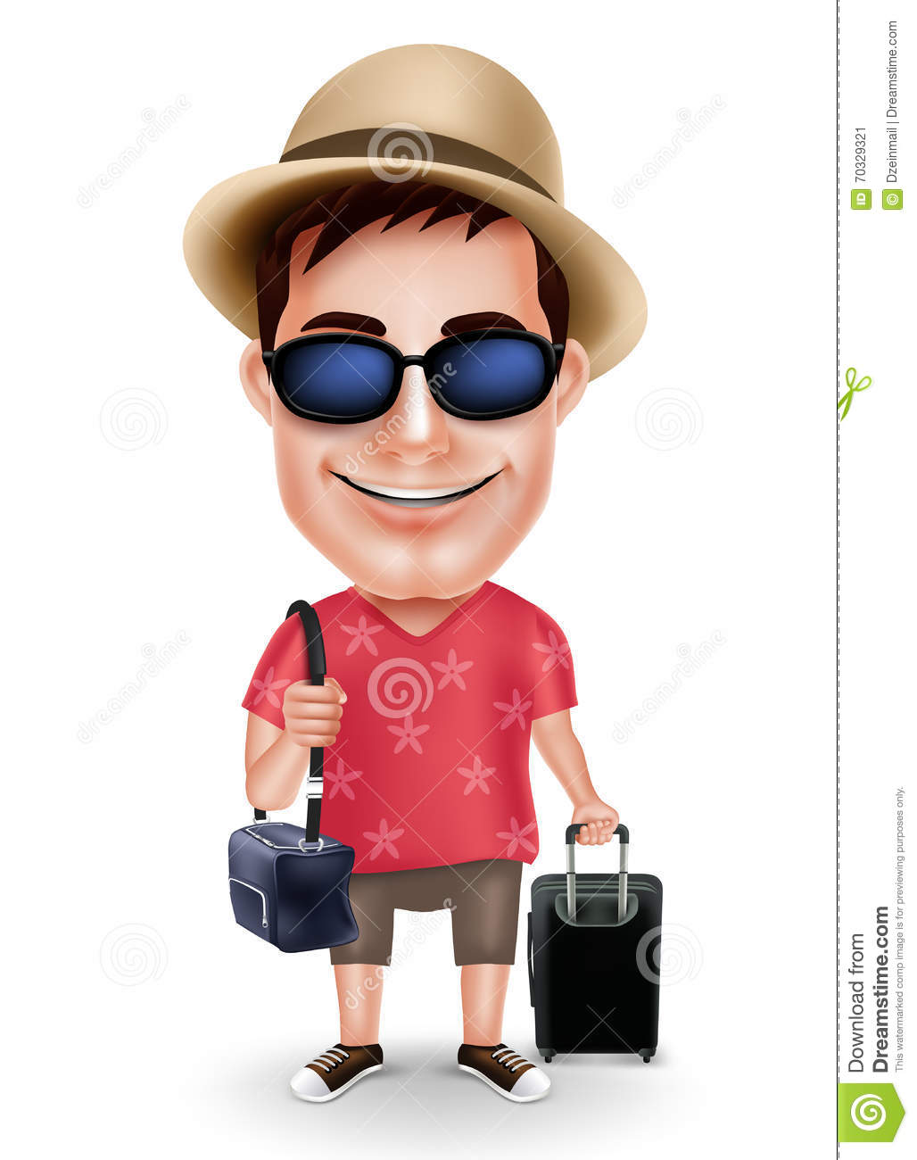 man character with casual dress cartoon vector