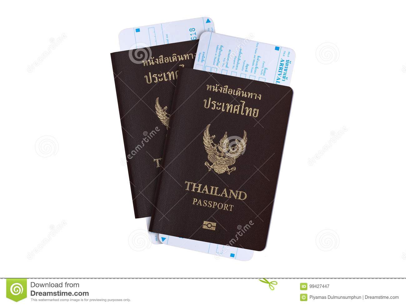 Tourist visa travel industry concept: Thailand passport