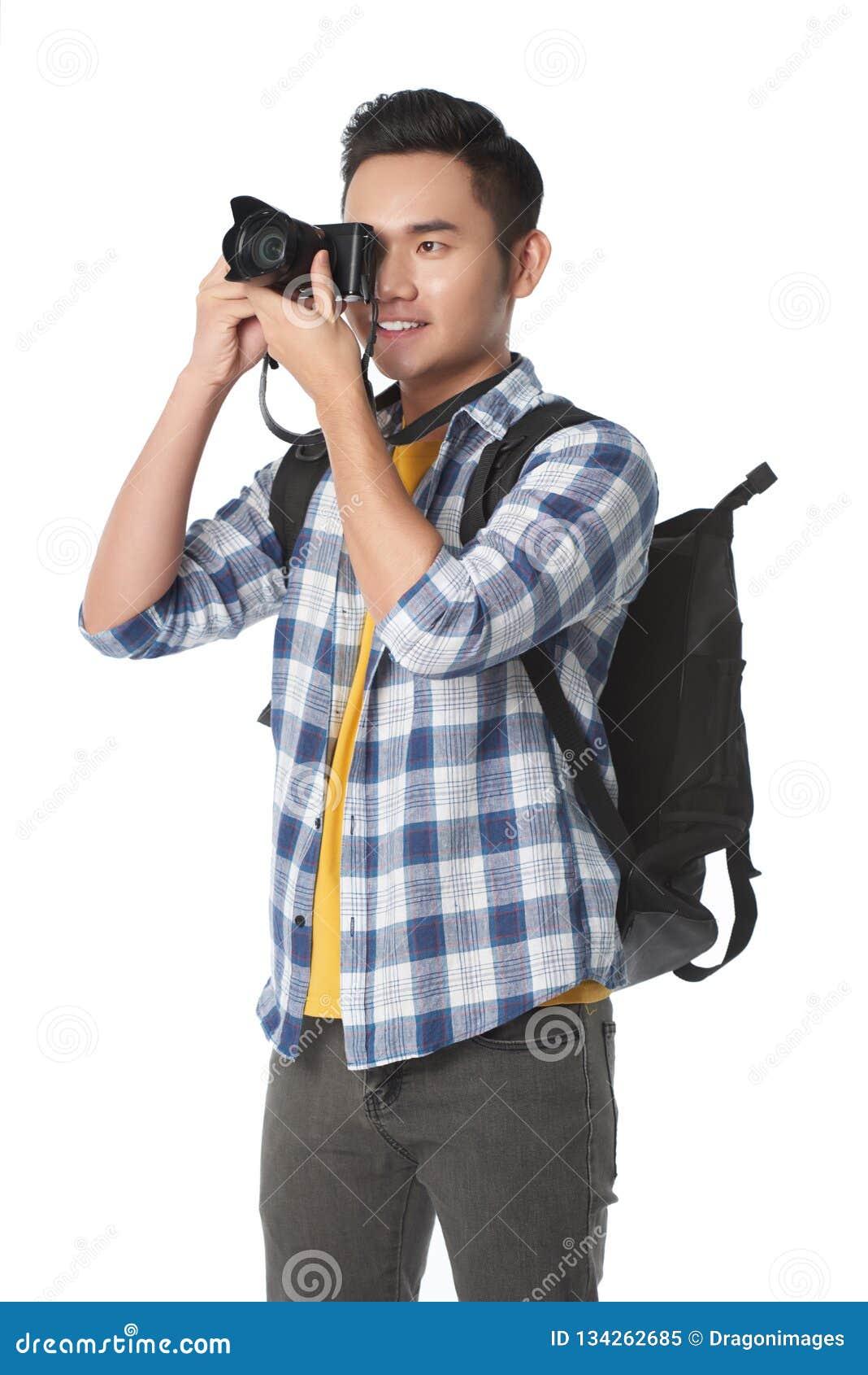 Touriste prenant des photos