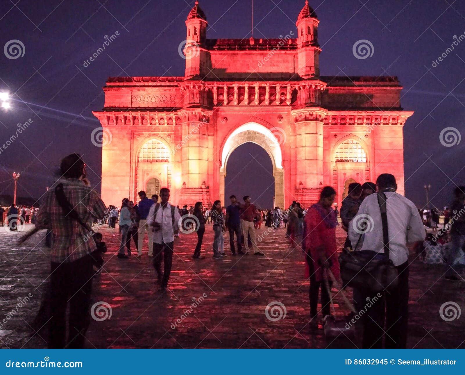 Touristes au passage de l Inde