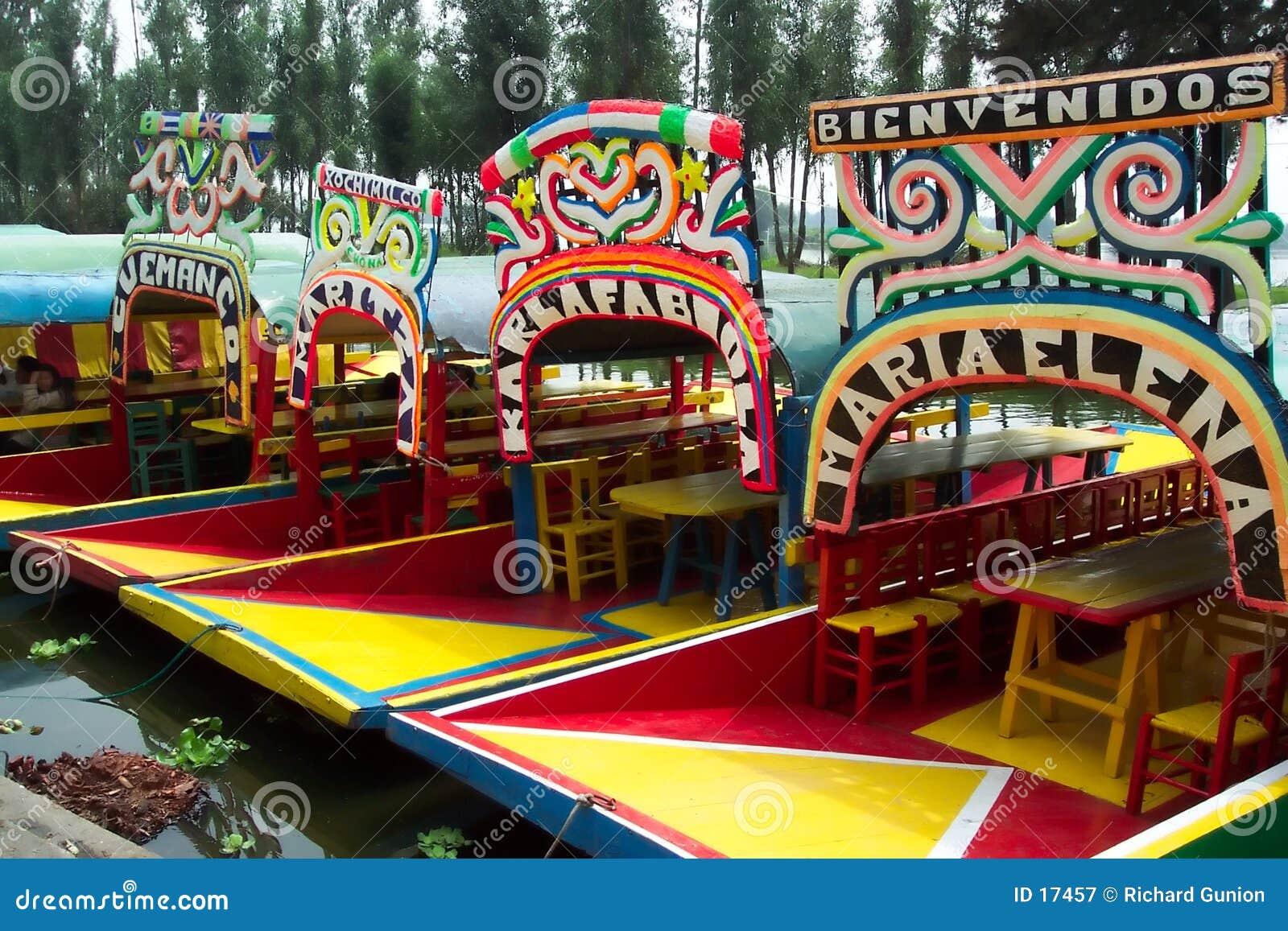 Touristes-Xochimilco de attente