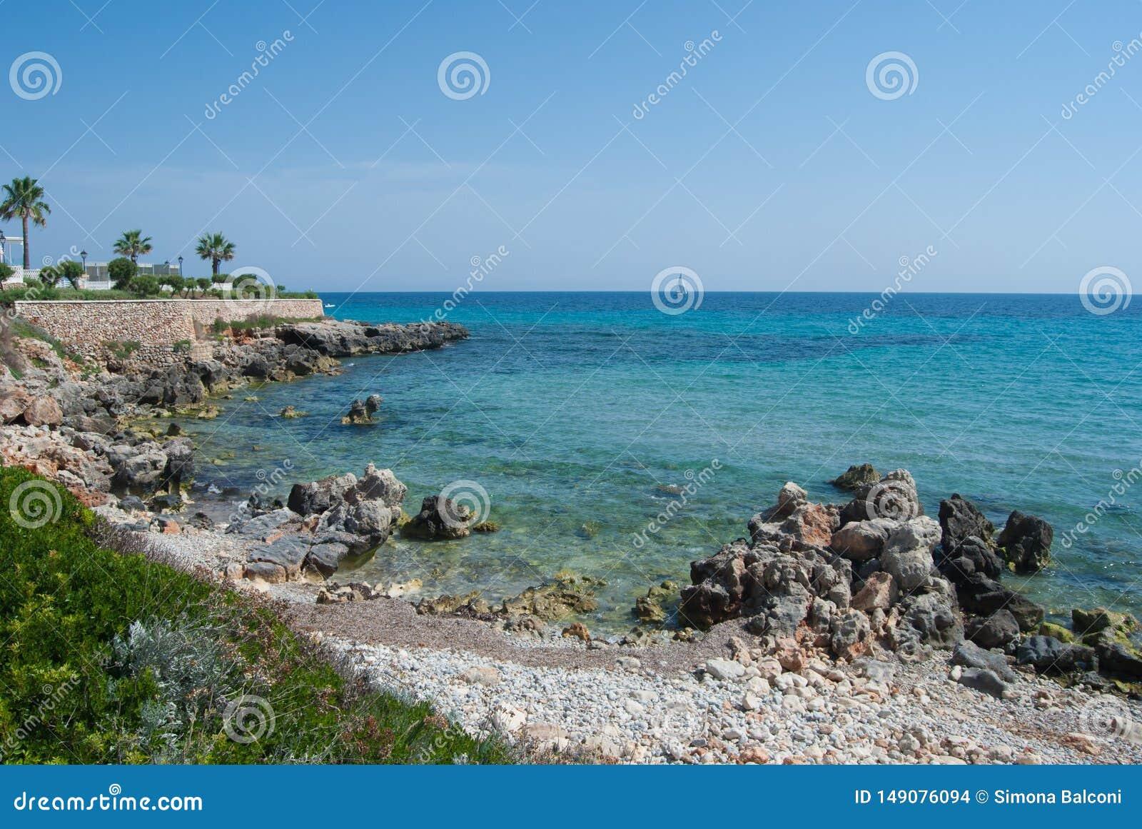 Touristic зона Minorca маленький остров Испании