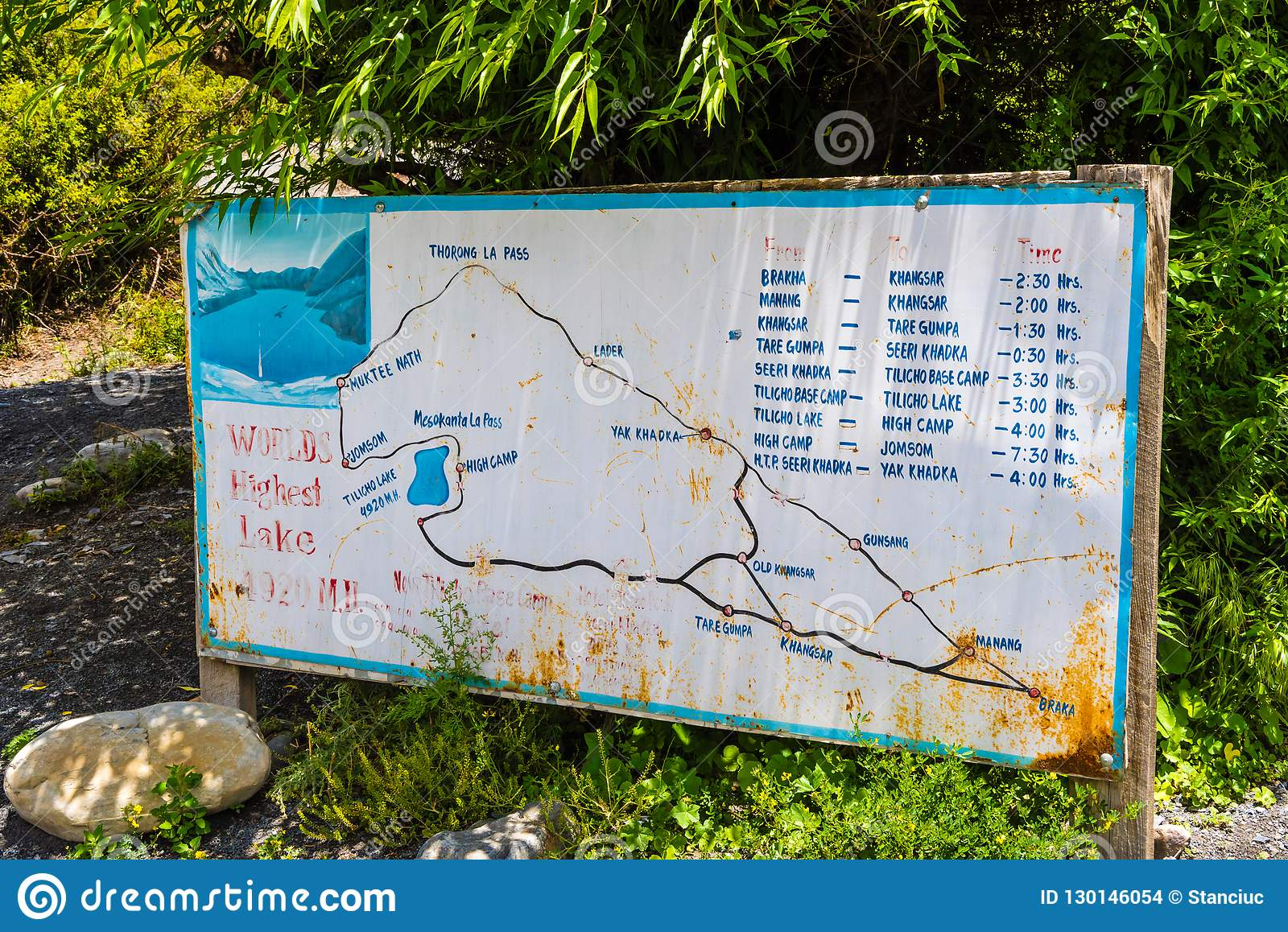 Touristic Information Sign In Braga Village On The Road To