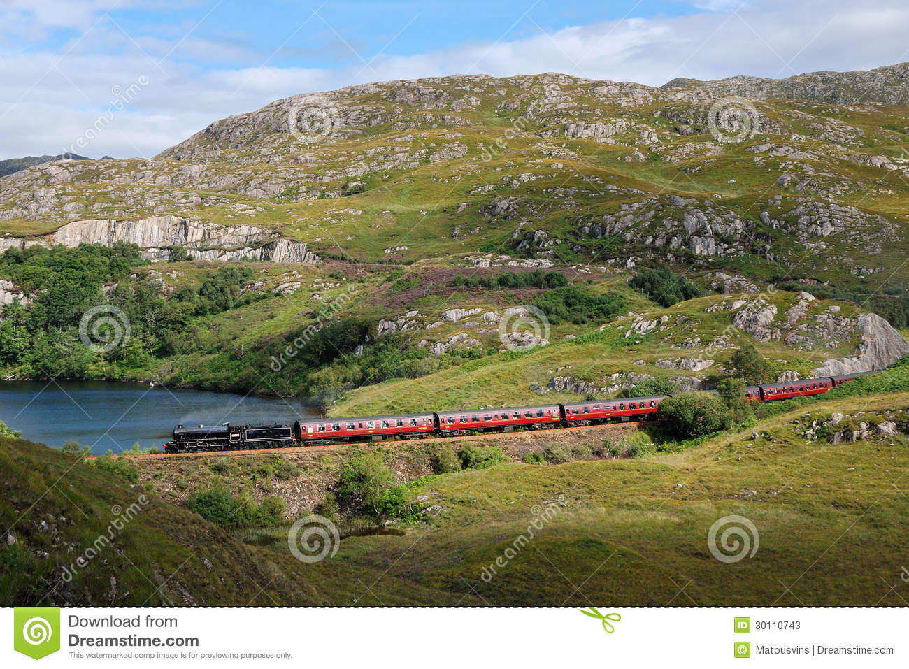 Harry Potter steam train stock image  Image of potter - 30110743