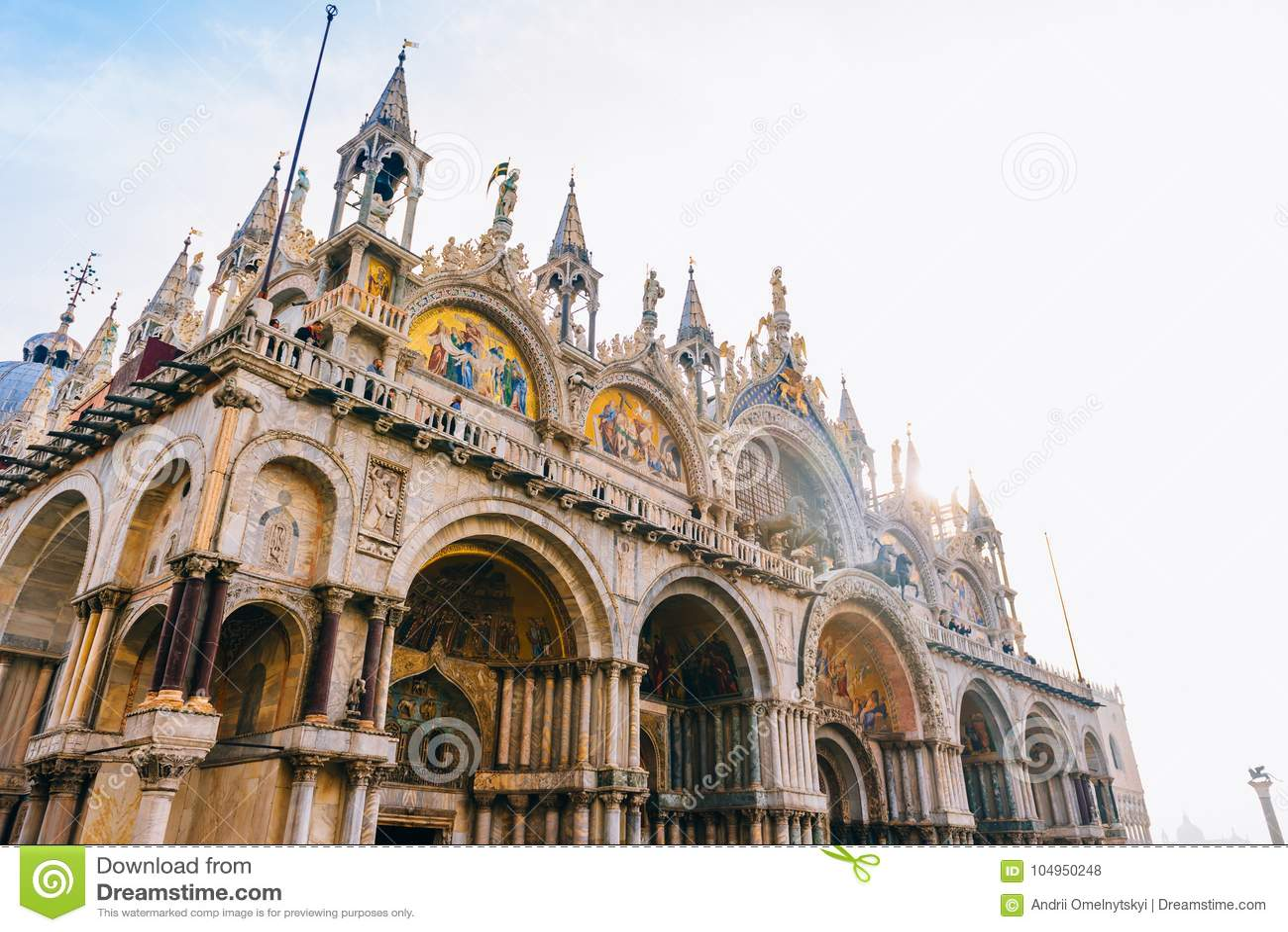 Touristische Wege des alten Venedigs