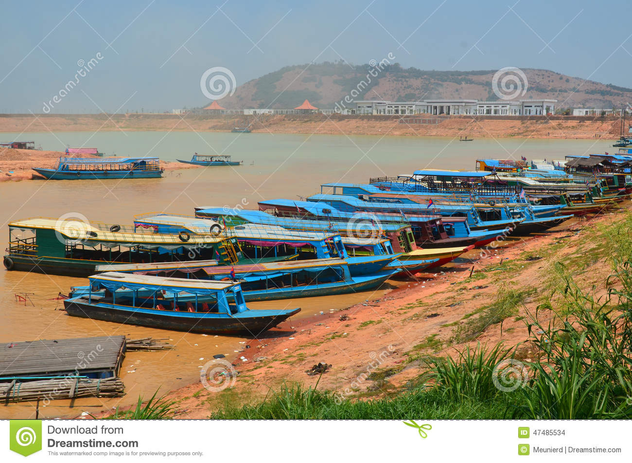 Tourists boats editorial stock image  Image of fish