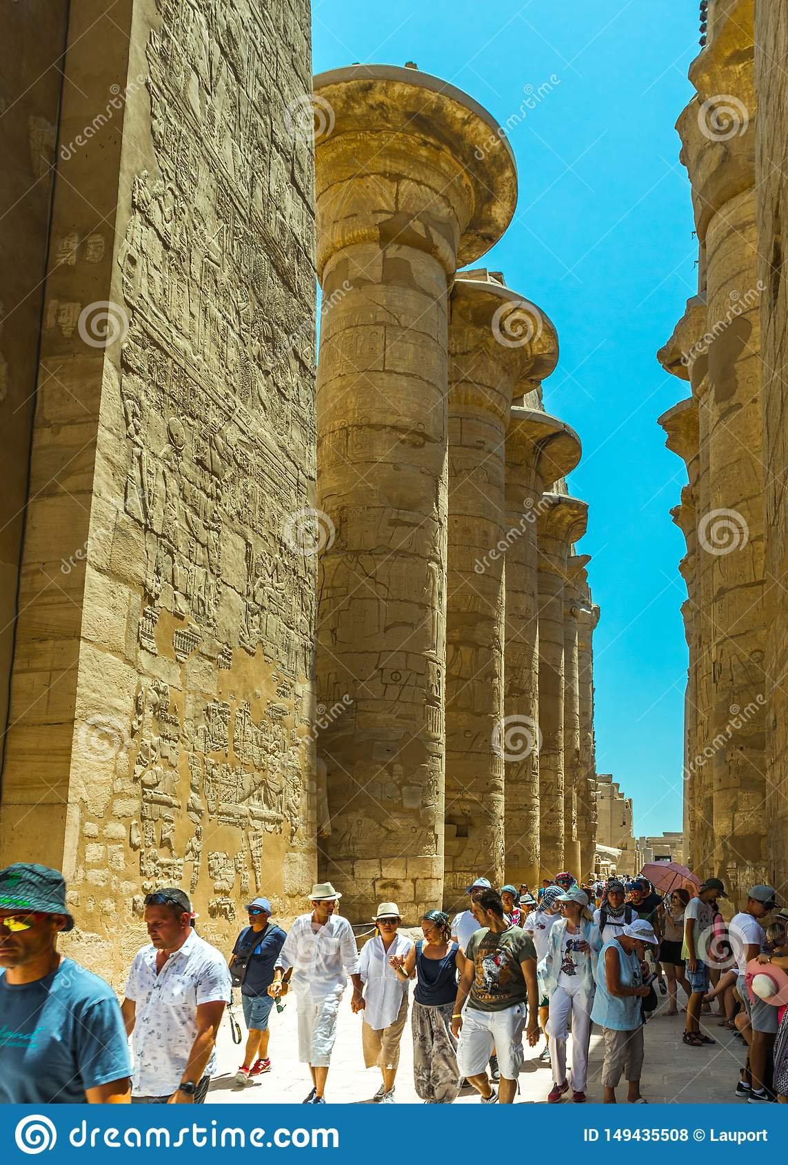 Tourists enjoying the Luxor Temple Complex